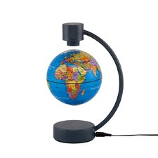 "4"" Levitating Political Blue Ocean Globe"