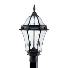 Fleur De Lis 2 Light Outdoor Post Lantern