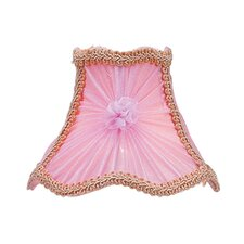 Victorian Scalloped Bell Clip Chandelier Shade in Pink