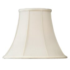 Shantung Silk Bell Lamp Shade in Off White