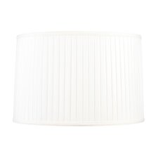 Shantung Silk Pleat Drum Lamp Shade in White
