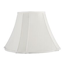 Fancy Square Shantung Silk Bell Lamp Shade in Cream