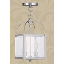 Milford 2 Light Convertible Foyer Pendant