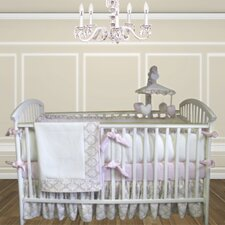 Emma 3 Piece Crib Bedding Set with bumper