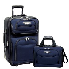 Amsterdam 2 Piece Carry-On Luggage Set in Navy