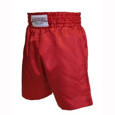 Boxing Shorts in Solid Red