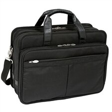 "R Series Walton Nylon 17"" Expandable Laptop Briefcase in Black"