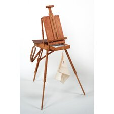 Jullian of Paris Full Size Wooden French Sketch Box Easel in Mahogany