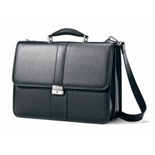 Flap Over Leather Briefcase