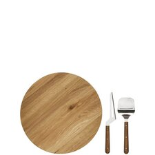 Lazy Susan Board Set in Oak