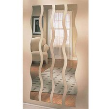 Wave Strip Mirror (Set of 4)