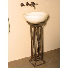 Leviathan Iron Pedestal Bathroom Sink Set