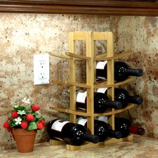 Bamboo 12 Bottle Tabletop Wine Rack