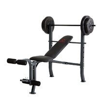 Bench and 80 lb. Weight Set