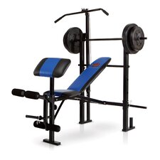 Standard Weight Bench with 120 lb. Weight Set