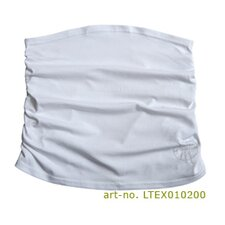 Belly Band in White Ruffled