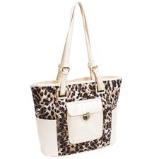 Farrah Quilted Croco Faux Leather Tote