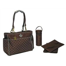 N` Orleans Quilted Tote Diaper Bag