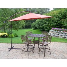 Elite Mississippi Swivel Bar Height Set with Umbrella