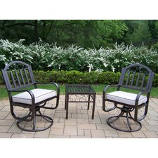 Rochester 3-Piece Swivel Chair Set
