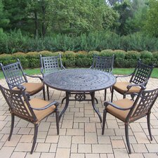 Belmont Round Dining Set with Cushions