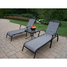 Sling 3 Piece Chaise Lounge Set