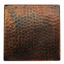 "6"" x 6"" Hammered Copper Tile in Oil Rubbed Bronze"