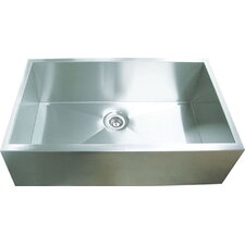 "31.88"" x 20.38"" Single Square Bowl Straight Farmhouse Kitchen Sink"