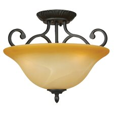 Royal Arches 3 Light Semi Flush Mount