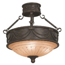 Isabella 3 Light Semi Flush Mount
