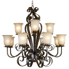 McKensi 12 Light Chandelier