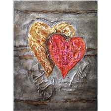 Two Hearts Beat as One Wall Art