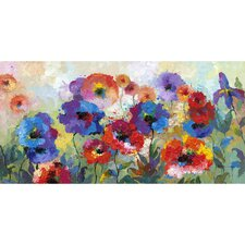 Flower Garden Hand Painted Wall Art