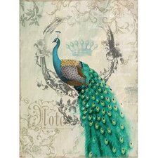 Peacock Poise II Canvas Wall Art