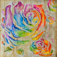 Revealed Artwork Colored Roses I Wall Art
