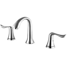 Double Handle Deck Mount Widespread Bathroom Faucet