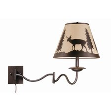 Bryce Wildlife Swing Arm Wall Sconce