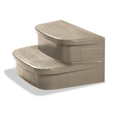 LifeSmart Discovery Matching Sandstone Spa Steps For The Rock Solid Simplicity Spa