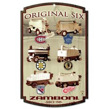 NHL Original Six Wood Sign