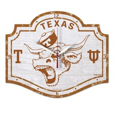 NCAA Texas University / College Vault High Def. Plaque Clock