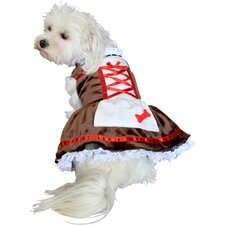 Beer Girl Dog Costume
