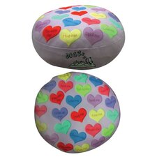Round Hearts Dog Bed