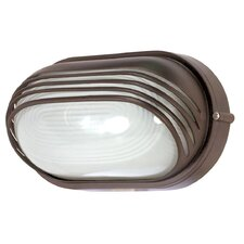 Oval Hood 1 Light Wall Sconce