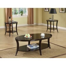 Raford 3 Piece Transitional Occasional Table Set in Espresso