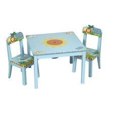Safari Kids' 3 Piece Table and Chair Set