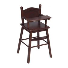 Doll High Chair in Espresso