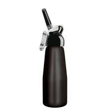 Dessert Chef 1 Pint Cream Whipper - Synthetic Black Head with Black Aluminum Bottle