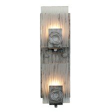 Polar 2 Light Vertical Recycled Wall Sconce