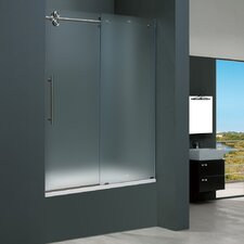 Frameless Sliding Tub Frosted Left Side Tub Door