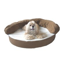 Ortho Sleeper Bolster Dog Bed in Chocolate